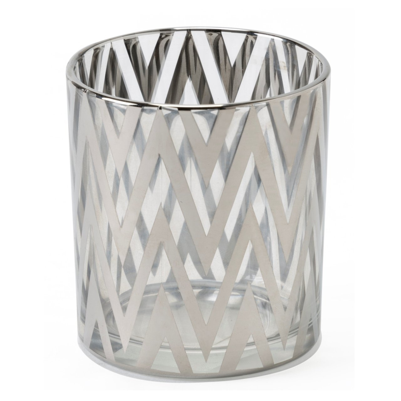 Shiraleah Wave Votive Candle Holder, Small, Silver 08-04-017SIL