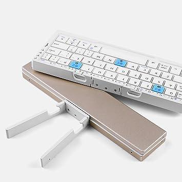 Wireless Bluetooth Teclado Plegable Mini Llevar Soporte Ultra Delgada Adecuado Smartphone Tablet Computadora iOS Android Windows