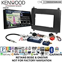 Volunteer Audio Kenwood DNX874S Double Din Radio Install Kit with GPS Navigation Apple CarPlay Android Auto Fits 2003-2007 Cadillac CTS, 2004-2006 SRX