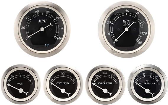 MOTOR METER RACING Classic Instruments Electronic Speedometer Gauge Indicator Digital Odometer 3-3//8