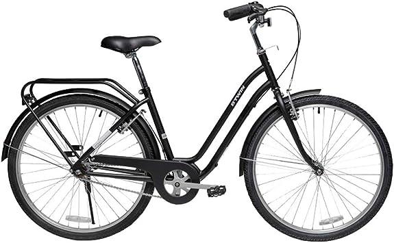 Bicicleta negra retro, bicicletas de carretera urbanas de acero al ...