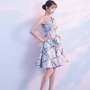 MOM Vestido de Fiesta Vestido de Párrafo Corto Elegante Vestido de Novia Vestido Nupcial Vestido Anual