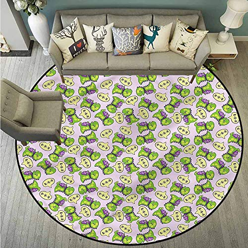 Pet Rugs,Boys Room,Green Dinosaurs Kids,with No-Slip - Somerset Green Rug