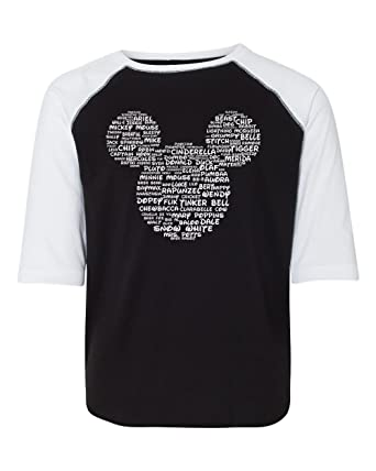 c5b4c95dce Amazon.com: DisGear Character Names Youth Tee T-Shirt Vacation Matching:  Clothing