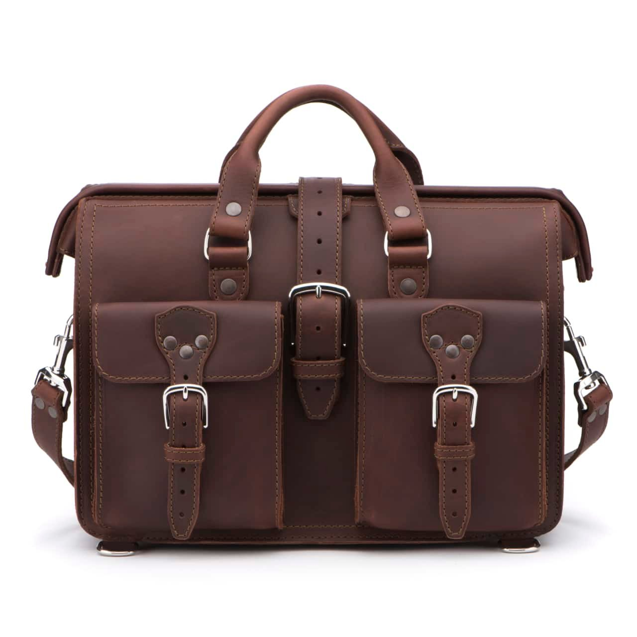 Saddleback Leather Co. Flight Bag 15-inch Full Grain Leather Expandable Laptop Briefcase for Men Includes 100 Year Warranty by Saddleback Leather Co. (Image #2)