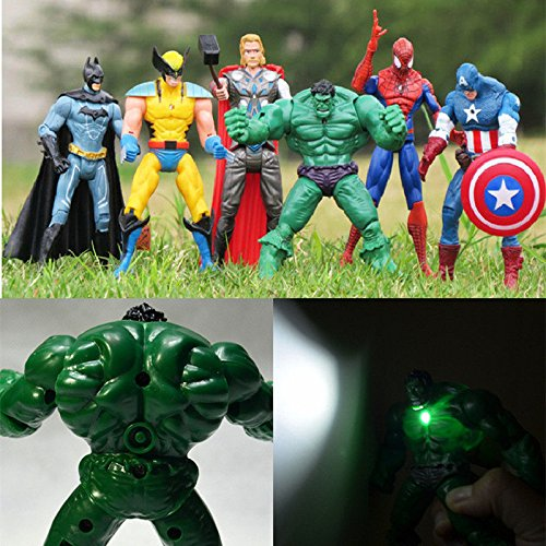 [6pcs Movie Super Heroes Action Figures Doll & Light Kids Children Xmas Toy Gift] (Scooby Doo Homemade Costume)