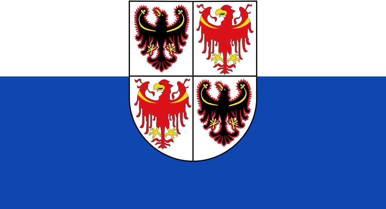 DIPLOMAT-FLAGS Drapeau Trentin-Haut-Adige/ou/Trentin-Tyrol du Sud 20x30cm Drapeau de Voiture Drapeau Paysage 0.06m/²