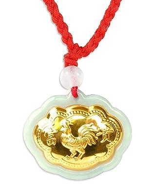 Collar con Colgante Signo del Gallo Zodiaco Chino