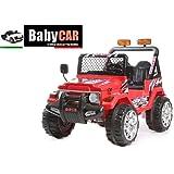 Babycar 618R–Elektrisches Auto für Kinder Jeep Safari mit Fernbedienung, 12V, rot