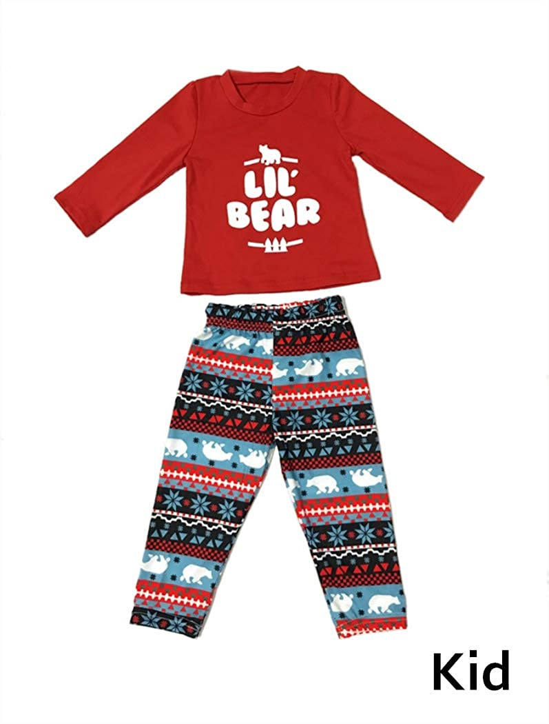 2 Piece Pjs Sets Cotton Sleepwears for Mom,Dad,Kids Family Christmas Pajamas Set