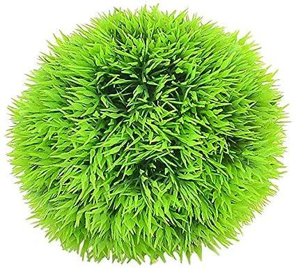Amazon.com : eDealMax acuario de agua simulada bola de la hierba Adorna, 3.5, Verde : Pet Supplies