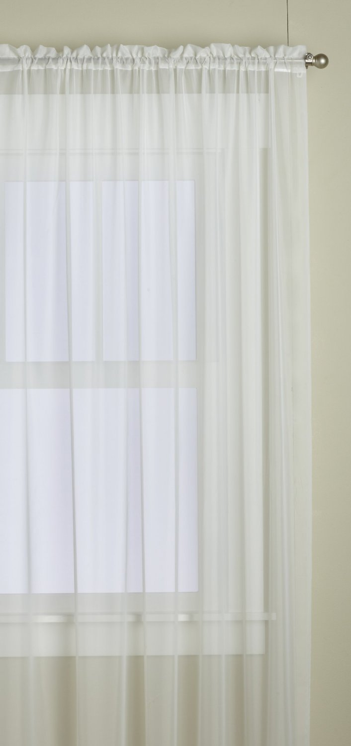 Lorraine Home Fashions Monte Carlo Pinch Pleat Sheer Window Curtain Pair