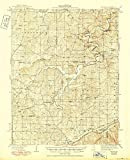 YellowMaps Redbird MO topo map, 1:62500 Scale, 15 X 15 Minute, Historical, 1938, Updated 1950, 20.7 x 16.9 in - Paper