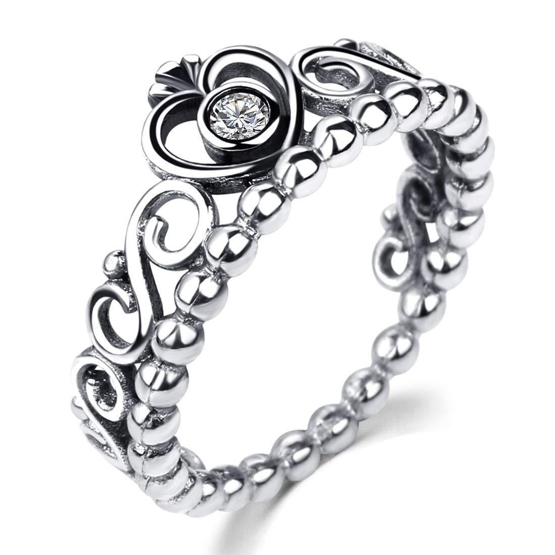 DALARAN Princess Crown Tiara Ring Copper Band Promise Ring Size 9