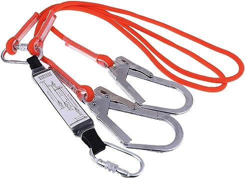 Baoblaze Cuerda Doble Pierna de Seguridad Escalada Protección contra Caídas Amortiguador
