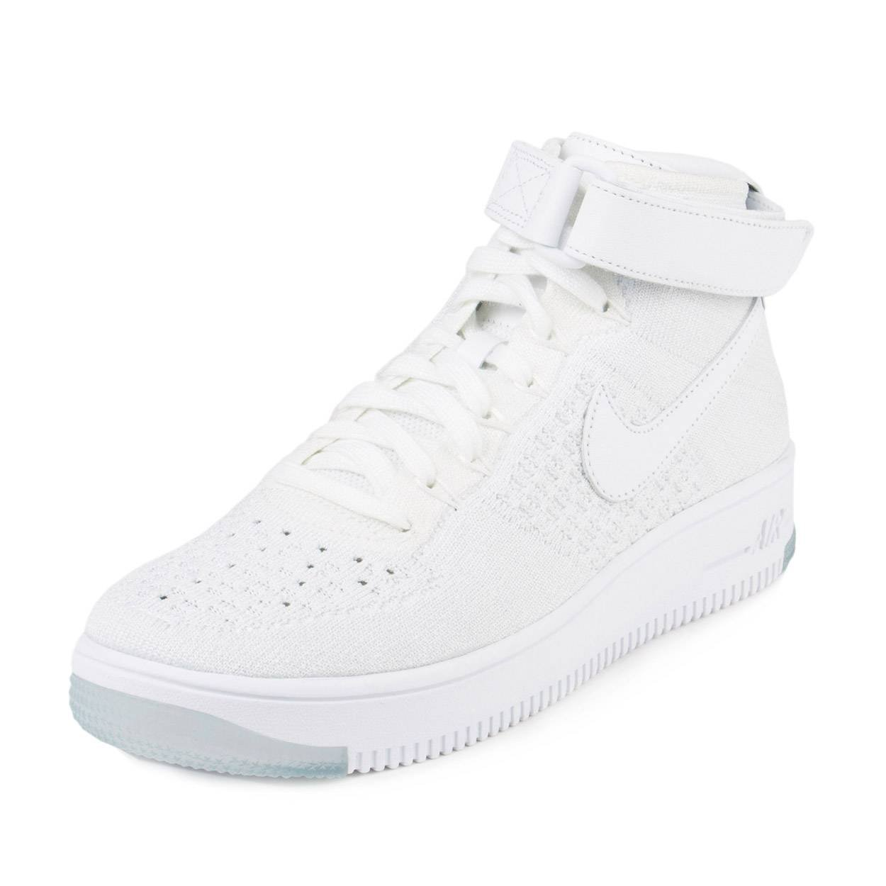 detailed look af540 d6269 Nike Womens AF1 Ultra Flyknit White/White/Pure Platinum Basketball Shoe 8  Women US