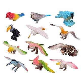 Toyvian 12pcs Animal Figure Toys Artificial Birds Bambini Giocattoli educativi per la Scuola Materna