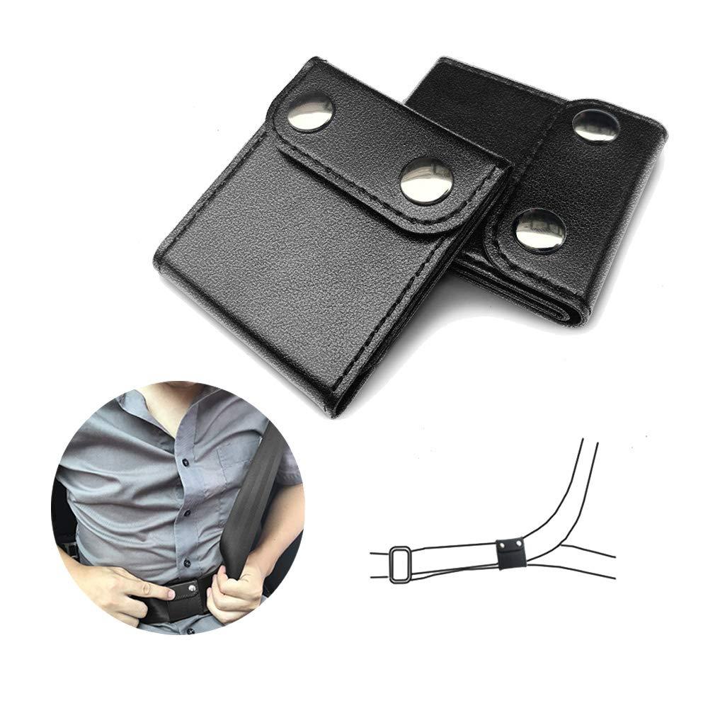 Seatbelt Adjuster, ILIVABLE Comfort Universal Auto Shoulder Neck Strap Positioner, Vehicle Seat Belt Covers (2 Pack, Black)