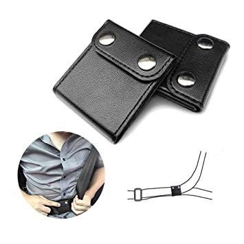2Pack Seatbelt Adjustable Car Seat Belt Extender Shoulder Neck Protector Strap