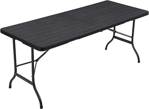 SONGMICS Table pliante, largeTable de jardin avec Surface en ...