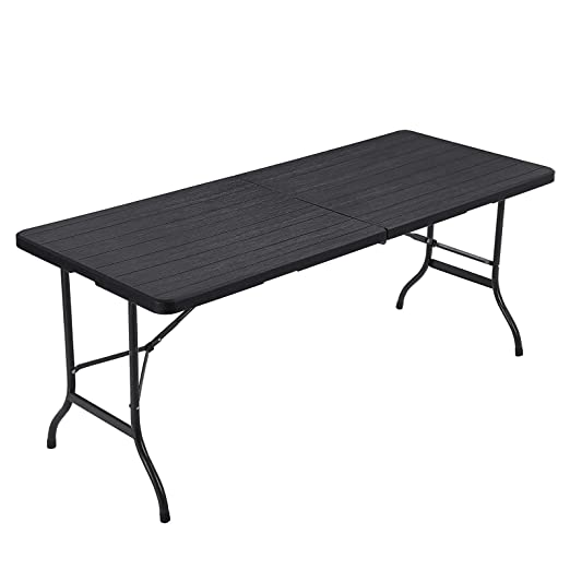 SONGMICS Table pliante, largeTable de jardin avec Surface en ...
