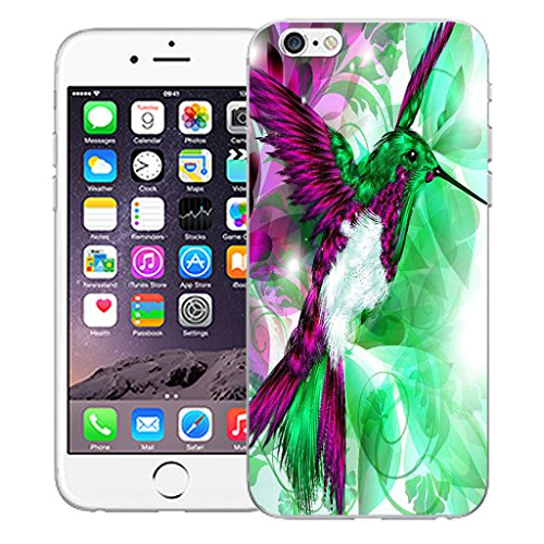 """Mobile Case Mate iPhone 6 4.7"""" Silicone Coque couverture case cover Pare-chocs + STYLET - Humingbird Green pattern (SILICON)"""