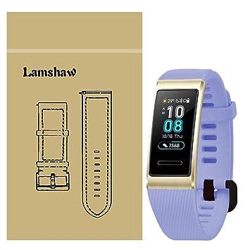 Ceston Silicone Classique Bracelet De Remplacement pour Bracelet Connecté Huawei Band 3 Pro (Violet)