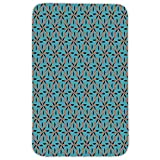 Rectangular Area Rug Mat Rug,Geometric,Soft Background and Floral Arrangement Blooming Nature Spring Season Decorative,Blue Vermilion Black,Home Decor Mat with Non Slip Backing