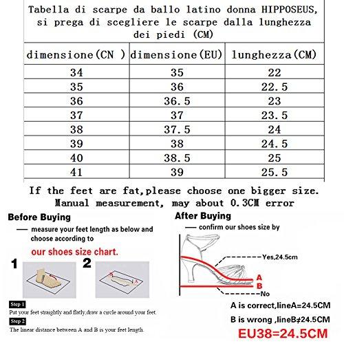 de Talon du Danse Latine 5CM Noir HIPPOSEUS Femmes 7cm Modèle rouge 217 Satin Standard Hauteur Chaussures 7CM gwqSEz