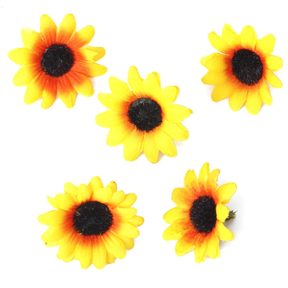 Amazon.com: Pixnor 100x Artificial Gerbera Daisy Flowers Heads for ...