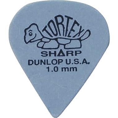 Dunlop Tortex Sharp Guitar Picks 1.0mm Blue 72 Pack