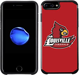 Prime Brands Group Textured Team Color Cell Phone Case for Apple iPhone 8 Plus/7 Plus/6S Plus/6 Plus - NCAA Licensed University of Louisville Cardinals (NCAA-TX1-i8P-LVL)