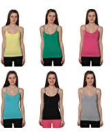 Beverly Rock Juniors Spaghetti Strap Tank Top Camisole Cotton (Pack Of 12 Or 6 Or 1)