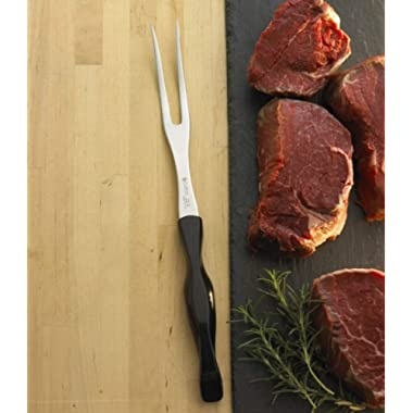 CUTCO Model 1727 Carving Fork with Classic Dark Brown handle (often called  Black ) in factory-sealed plastic bag.