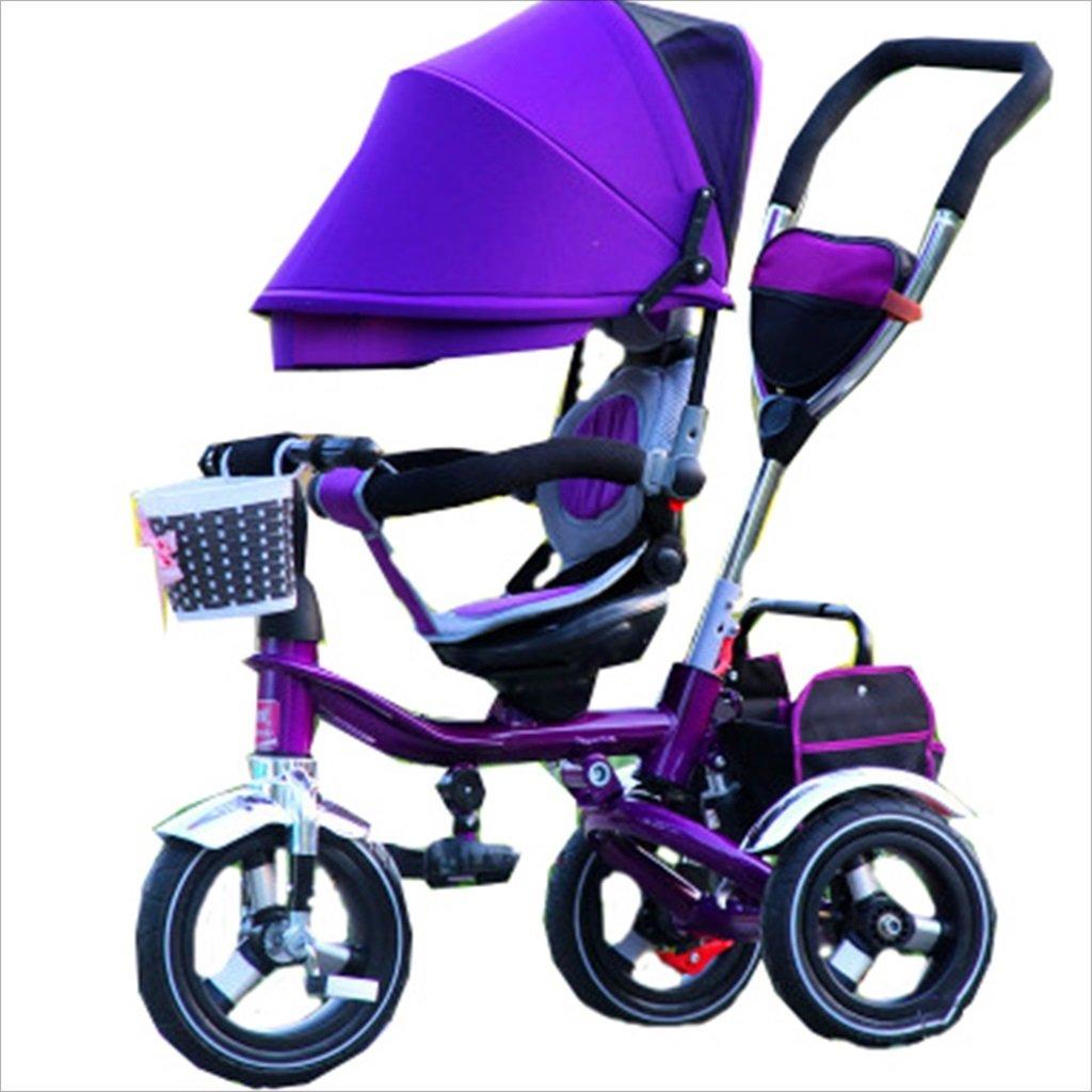 子供の屋内屋外小型三輪車自転車の男の子の自転車の自転車6ヶ月-5歳の赤ちゃんスリーホイールトロリー、ダンピング/折りたたみ/回転座席 (色 : 5) B07FGD2GHS 5 5