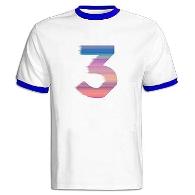 07e4a08cf Amazon.com  Men s Chance 3 The Rapper Color Block 100% Cotton T-Shirts   Clothing