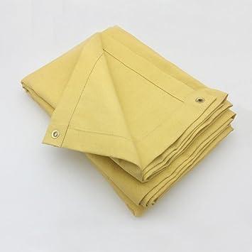 Manta de soldadura Manta de soldadura martillo de fibra de vidrio con revestimiento de 780 G/m2 amarillo acrílico 1,8 x 2,4 m, amarillo: Amazon.es: ...