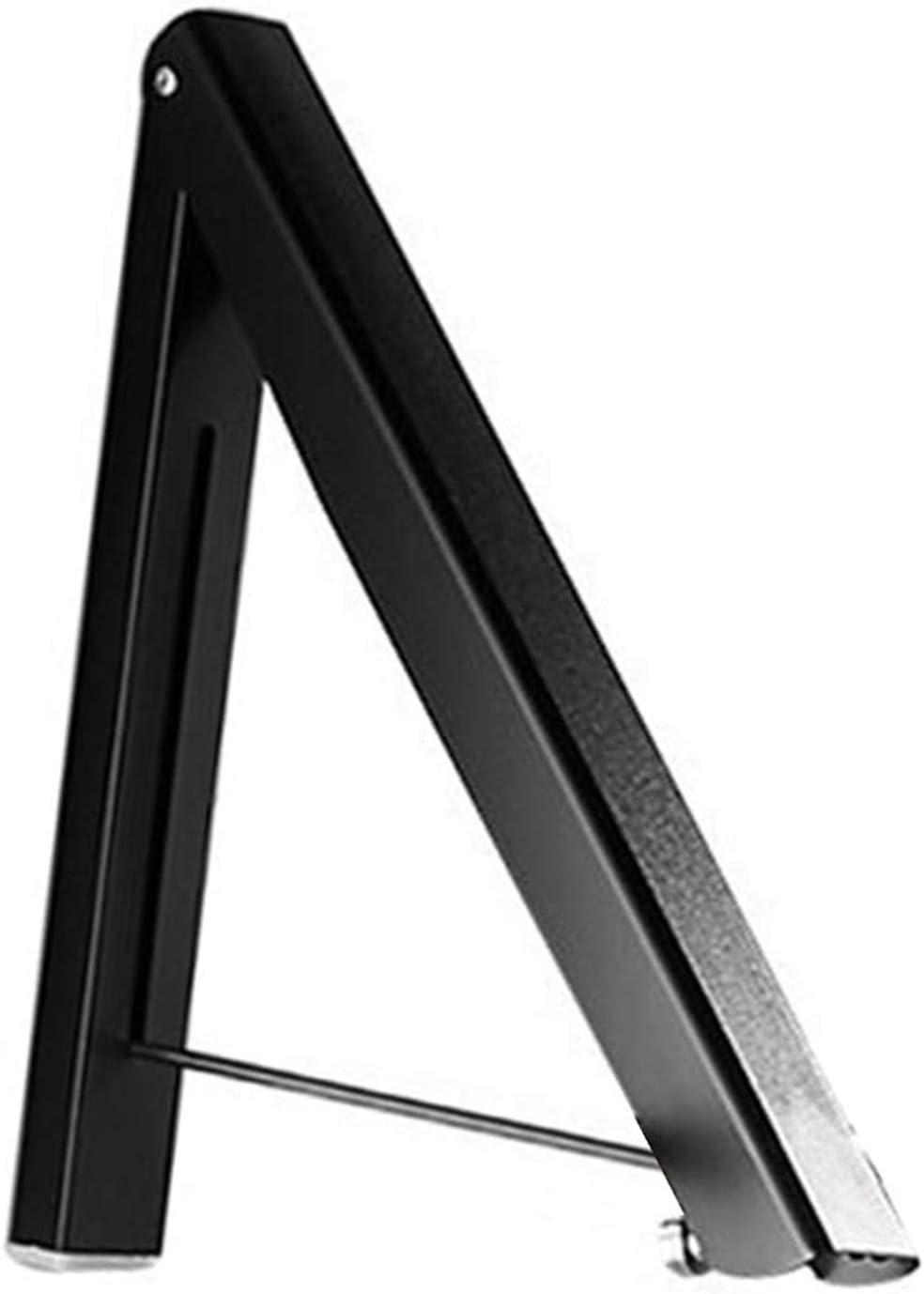 WSZMD Tendedero Ropa Ropa De Montaje De Pared Plegable Aperador Perchador Organizador Ajustable Estante, Ropa Aireer (Color : Black)