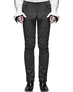 0daf8226df Devil Fashion Herrenhosen Hose Schwarz Brokat Gothic Steampunk VTG  Aristocrat