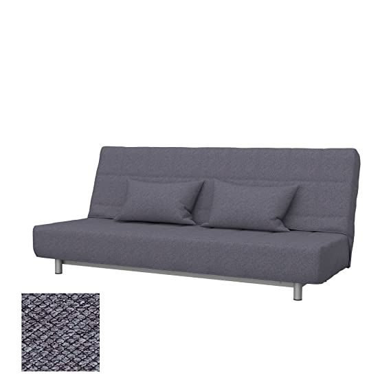 Soferia - Replacement Cover for IKEA BEDDINGE 3-seat Sofa-Bed, Nordic Anthracite