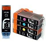5 Canon Pixma CLI526, PGI525, Cartouche d'encre compatible pour iP4850, iP4950, MG5150, MG5250, MG5350, MG6150, MG6220, MG6250, MG8150, MG8220, MG8250, MX885, IX6550 PGI 525BK, CLI 526Y, CLI 526M, CLI 526C, CLI 526BK