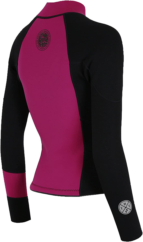 Two Bare Feet Womens Harmony Long Sleeve 3mm Neoprene Wetsuit Jacket Ladies Watersports