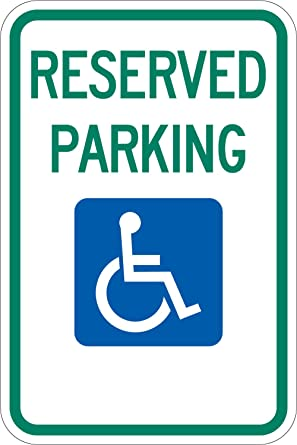 Handicap Parking Sign Federal Standard Reserved Parking With