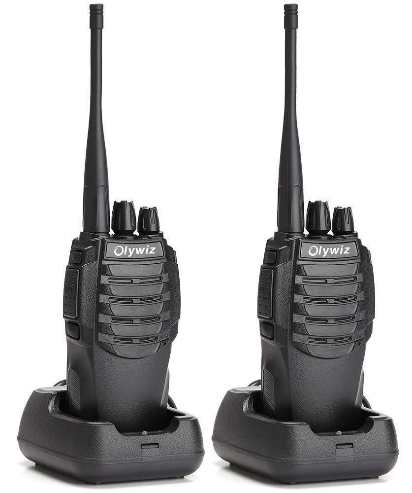 Walkie Talkies Two Way Radios 2PCS-Olywiz Handheld Radio 3 Miles Long Range 1800mAh Rechargeable Li-ion Battery UHF 400-470Mhz HTD-826 Portable Ham 2 Way Radio for Climbing Hunting/&Outdoor HTD-826 2PCS Walkie Talkie