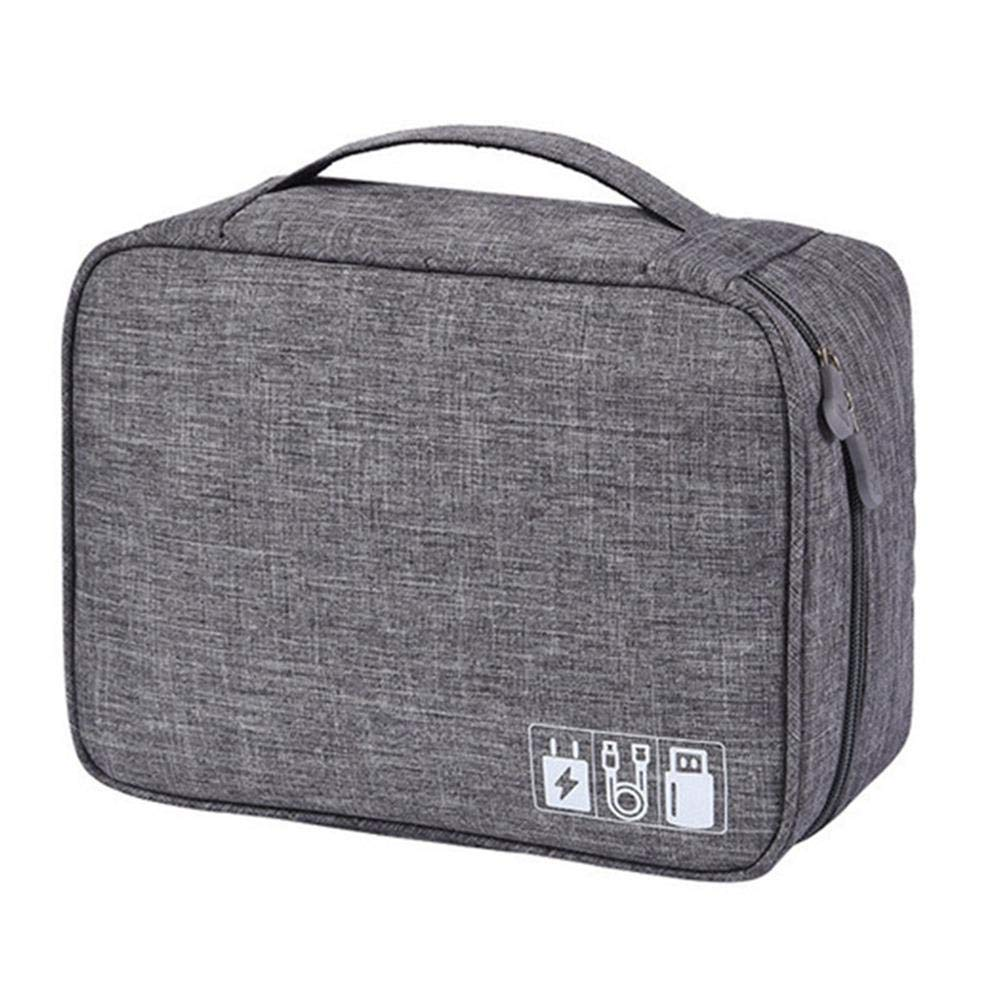 5672ab5cd607 Womdee Electronic Organizer, Travel Accessories Gadget Storage Bag  Universal Travel Case for Small Electronics and Cables, Adapter, Battery,  Phone, ...
