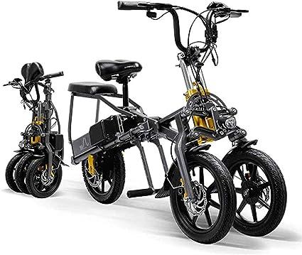 XHJZ Triciclo eléctrico para Adultos Plegable fácilmente Tres ...