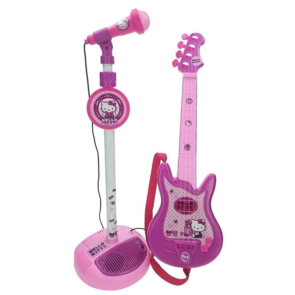 Hello Kitty - Gitarre mit Standmikrofon