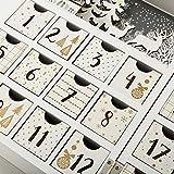 PIONEER-EFFORT Christmas Wooden Advent Calendar