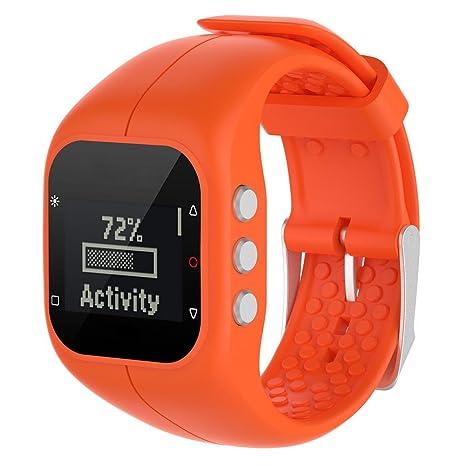 AUTOECHO Bracelet de rechange pour montre connectée Polar A300, en silicone, durable et étanche (10 couleurs), Orange: Amazon.fr: Sports et Loisirs
