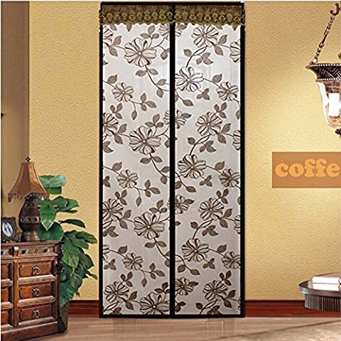 Hankuke Magnetic Screen Door, Mesh Curtain - Keeps Bugs & Mosquitoes Out, Lets Cool Breeze In, Toddler And Pet Friendly - Fits Door Openings up to 34
